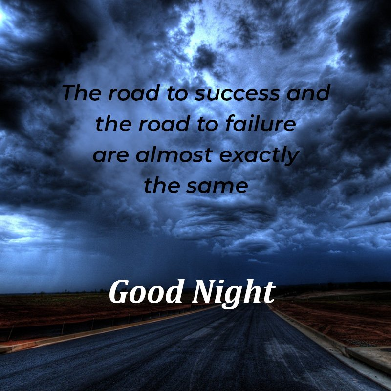 goodnight-message-road-under-cloudy-sky